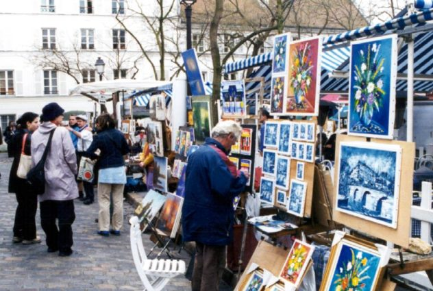 5 must visit places in Paris for Art Lovers; montmartre